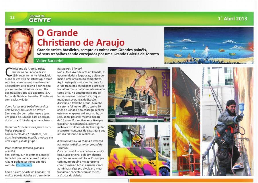 Jornal de Gente - Toronto - April 2013