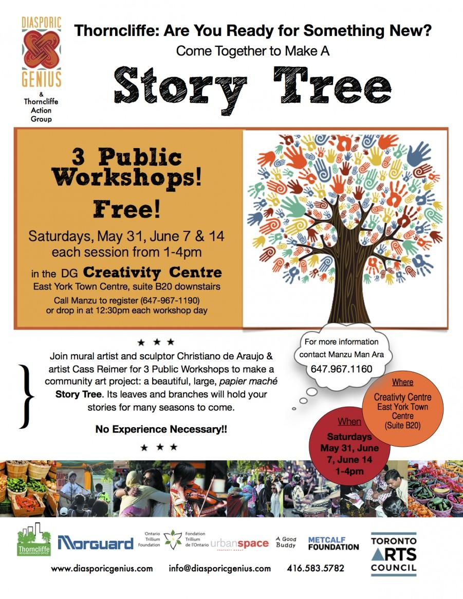 Story Tree Project - 7 feet tall paper marche sculpture