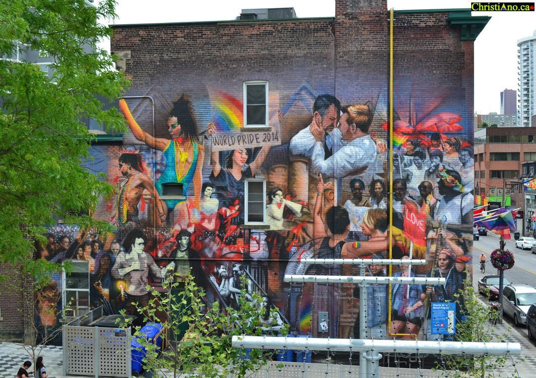The 519 Mural LGBTQ History Community