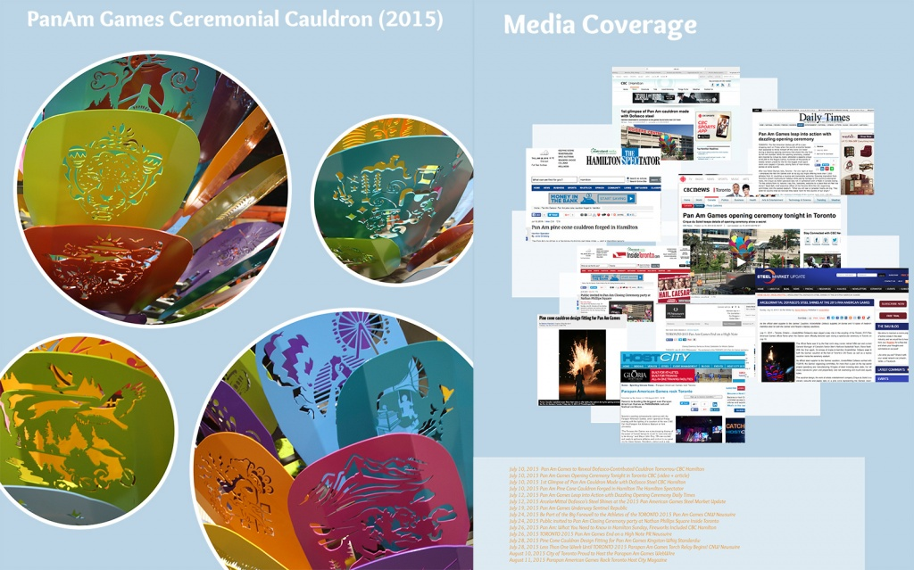 Pan Am Games Ceremonial Cauldron (2015) Media Coverage