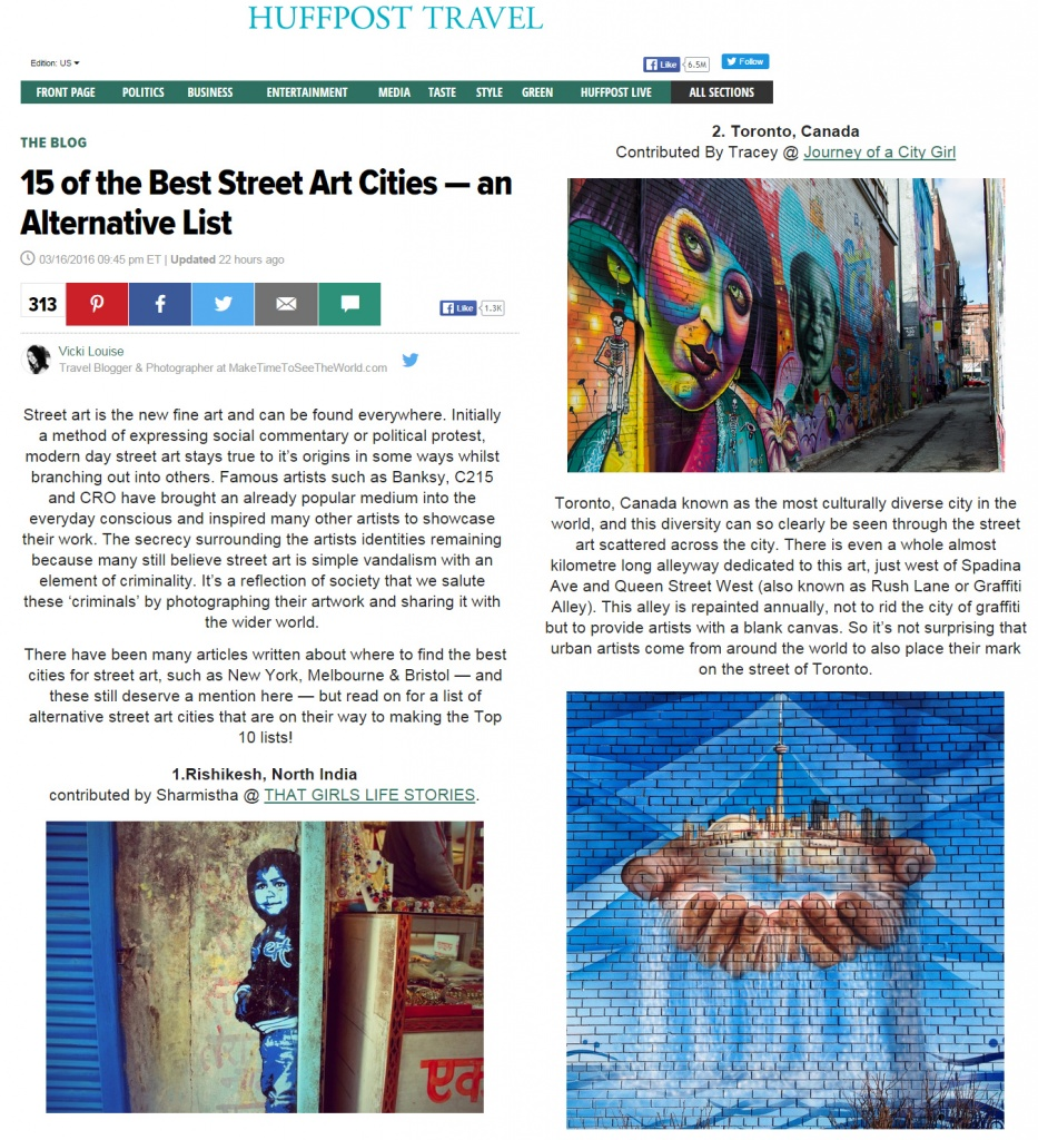 15 of the Best Street Art Cities — an Alternative List